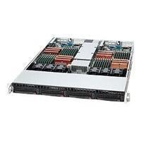 Supermicro SC808 T-1200B - rack-mountable - 1U - up to 2 blades