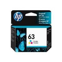 HP 63 - color (cyan, magenta, yellow) - original - ink cartridge