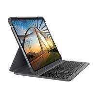 Logitech Slim Folio Pro Keyboard Case for iPad Pro 11-inch (1st and 2nd gen) - clavier et étui - graphite
