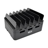 Tripp Lite 5-Port USB Fast Charging Station Hub with Built-In Device Storage, 12V 4A (48W) USB Charger Output adaptateur secteur - 5 x USB Type A 4 pin - 48 Watt