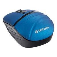Verbatim Wireless Mini Travel Mouse - Commuter Series - souris - 2.4 GHz - bleu