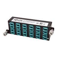 Tripp Lite 10GbE High Density Pass-Through Cassette 12 LC Duplex Connection - fiber optic cassette