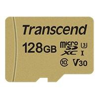 Transcend 500S - flash memory card - 128 GB - microSDXC
