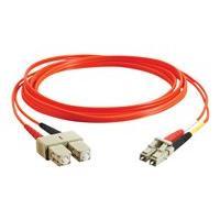 C2G 5m LC-SC 62.5/125 Duplex Multimode OM1 Fiber Cable - Orange - 16ft - patch cable - 5 m