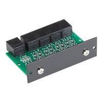 Black Box Modem Splitter 4-Port RS-232 with RJ-45 Rackmount Card - serial splitter - TAA Compliant