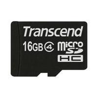 Transcend - flash memory card - 16 GB - microSDHC