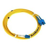 Axiom LC-SC Singlemode Duplex OS2 9/125 Fiber Optic Cable - 30m - Yellow - network cable - 30 m