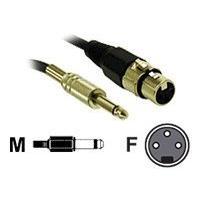 C2G Pro-Audio 25ft Pro-Audio XLR Female to 1/4in Male Cable - câble audio - 7.6 m