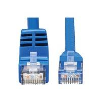 Tripp Lite Down-Angle Cat6 Gigabit Molded UTP Ethernet Cable (RJ45 Right-Angle Down M to RJ45 M), Blue, 20 ft. - patch cable - 6.096 m - blue