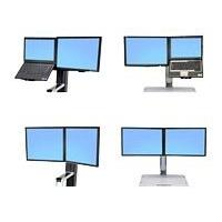 Ergotron WorkFit Convert-to-Dual Kit from LCD & Laptop, for WorkFit-S or WorkFit-C - kit de montage