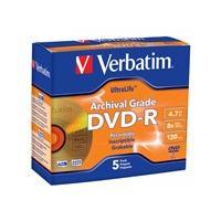 Verbatim UltraLife Gold Archival Grade - DVD-R x 5 - 4.7 Go - support de stockage