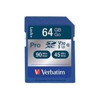 Verbatim PRO - flash memory card - 64 GB - SDXC UHS-I