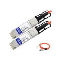 AddOn 100GBase-AOC direct attach cable - TAA Compliant - 3 m - orange