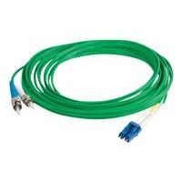 C2G 10m LC-ST 9/125 Duplex Single Mode OS2 Fiber Cable TAA - Green - 33ft - patch cable - 10 m - green