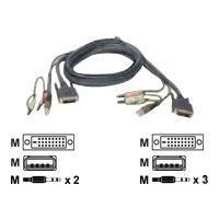 IOGEAR G2L8D02U - video / USB / audio cable - 1.8 m  (Dual-Link);4 pin USB Type A; Mini-phone 3.5 mm -
