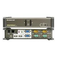 IOGEAR MiniView Dual View KVMP Switch GCS1742 - commutateur écran-clavier-souris/audio/USB - 2 ports
