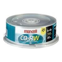 Maxell - CD-RW x 25 - 700 Mo - support de stockage