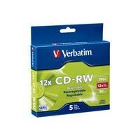 Verbatim High Speed - CD-RW x 5 - 700 MB - storage media