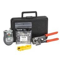 Black Box CAT5 Termination Kit, Solid Wire - network tool/tester kit