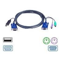 ATEN 2L-5506UP - keyboard / video / mouse (KVM) cable - 6 m ouse (KVM) cable - 4 pin USB T ype A  HD-15 (M) - 6