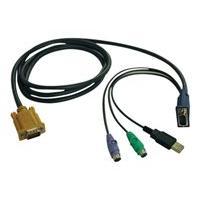 Tripp Lite 15ft USB / PS2 Cable Kit for KVM Switches B020-U08 / U16 & B022-U16 15' - keyboard / video / mouse (KVM) cable - 4.6 m