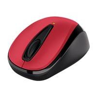 Microsoft Wireless Mobile Mouse 3000v2 - mouse - 2.4 GHz - hibiscus red