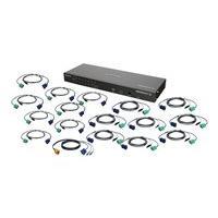 IOGEAR GCS1816IKITU - KVM switch - 16 ports - rack-mountable - with USB KVM Cables