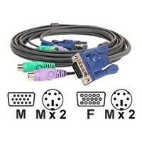 IOGEAR Micro-Lite keyboard / video / mouse (KVM) cable - 3.05 m VM Cable  10 ft.   PS/2  (M) - 6 pin PS/2 (M