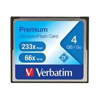 Verbatim Premium - carte mémoire flash - 4 Go - CompactFlash