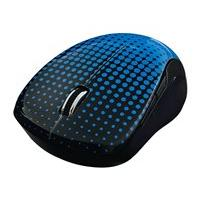 Verbatim Wireless Notebook Multi-Trac Blue LED Mouse - mouse - 2.4 GHz - blue, dot pattern
