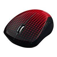 Verbatim Wireless Notebook Multi-Trac Blue LED Mouse - mouse - 2.4 GHz - red, dot pattern