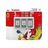 Canon PG-245 Twin/CL-246 - 3-pack - black, color (cyan, magenta, yellow) - original - ink cartridge