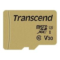 Transcend 500S - flash memory card - 64 GB - microSDXC