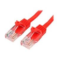 StarTech.com Cat5e Ethernet Cable - 30 ft - Red- Patch Cable - Snagless Cat5e Cable - Long Network Cable - Ethernet Cord - Cat 5e Cable - 30ft (45PATCH30RD) - patch cable - 9.1 m - red