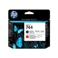 HP 744 - noir, rouge chromatique - tête d'impression