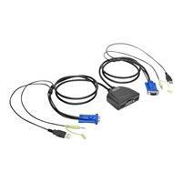 Tripp Lite 2-Port USB/VGA Cable KVM Switch with Audio, Cables and USB Peripheral Sharing - commutateur écran-clavier-souris/audio/USB - 2 ports