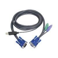 ATEN Intelligent KVM Cable 2L-5502UP - keyboard / video / mouse (KVM) cable - 1.8 m  cable - 4 pin USB Type A(M) HD-15 (M) - 6 pin PS