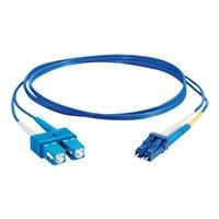 C2G 5m LC-SC 9/125 Duplex Single Mode OS2 Fiber Cable - Plenum CMP-Rated - Blue - 16ft - patch cable - 5 m - blue