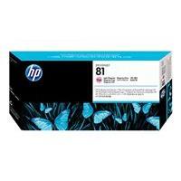 HP 81 - magenta clair - encre à colorants - tête d'impression avec nettoyeur