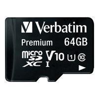 Verbatim Premium - flash memory card - 64 GB - microSDXC UHS-I