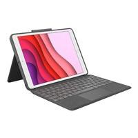 Logitech Combo Touch Keyboard Case for iPad (7th and 8th gen) - clavier et étui - avec trackpad - graphite