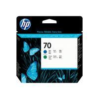 HP 70 - bleu, vert - tête d'impression
