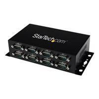 StarTech.com 8 Port USB to Serial RS232 Adapter - Wall Mount - Din Rail - COM Port Retention - FTDI USB to DB9 RS232 Hub (ICUSB2328I) - serial adapter