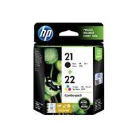 HP 21/22 - 2-pack - color (cyan, magenta, yellow), pigmented black - original - ink cartridge