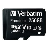 Verbatim Premium - carte mémoire flash - 256 Go - microSDXC UHS-I