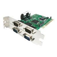 StarTech.com Carte PCI avec 4 ports DB-9 RS232 - Adaptateur serie - UART 16550 - adaptateur série - PCI - RS-232 x 4