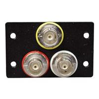 C2G Wiremold Audio/Video Interface Plates (AVIP) Three BNC Female to BNC Female Barrels - plaque