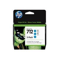 HP 712 - pack de 3 - cyan - original - DesignJet - cartouche d'encre