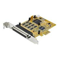 StarTech.com 8-Port PCI Express RS232 Serial Adapter Card - PCIe RS232 Serial Card - 16C1050 UART - Multiport Serial DB9 Controller/Expansion Card - 15kV ESD Protection - Windows & Linux - adaptateur série - PCIe - RS-232 x 8