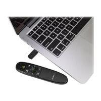 StarTech.com Wireless Presentation Remote with Green Laser Pointer - 90 ft. (27 m) - USB Presentation Clicker for Mac and Windows (PRESREMOTEG) presentation remote control - black